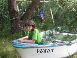 Ferienhaus Sokollek - Boot und Schaukel